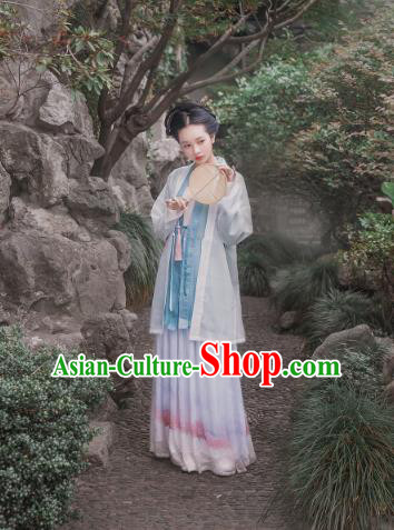 Traditional Chinese Song Dynasty Princess Silk Costume, Asian China Ancient Palace Lady Hanfu Dress Clothing for Women