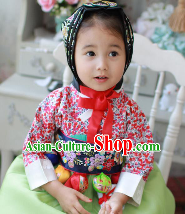 Traditional Korean Accessories Embroidered Waist Belts, Asian Korean Fashion Wedding Tassel Waistband for Kids