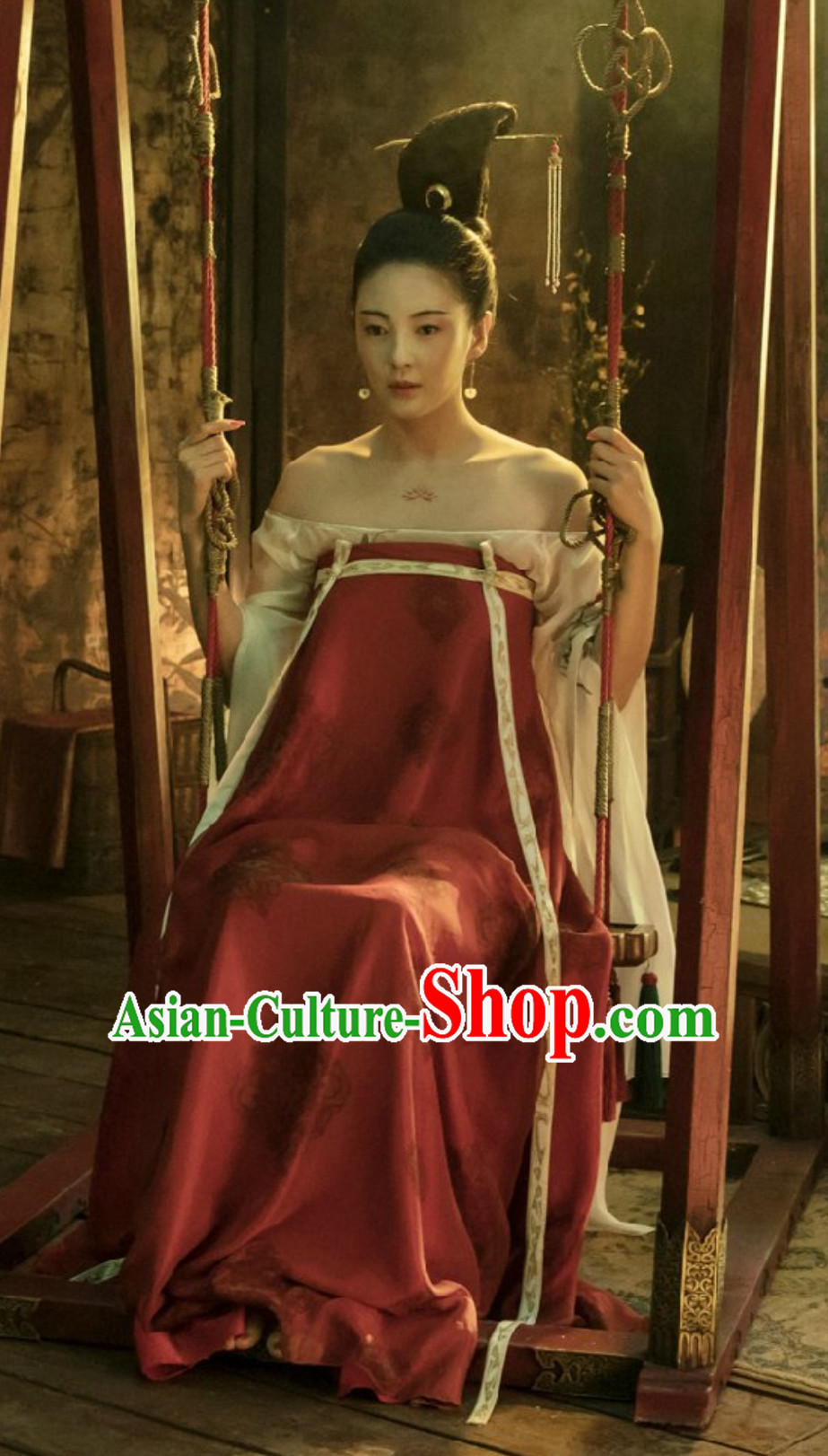 Ancient China Tang Dynasty Beauty Garment Costumes Complete Set for Women