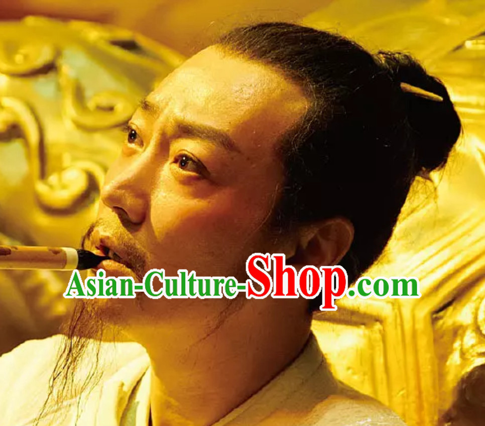 Ancient Chinese Tang Dynasty Black Wigs for Men