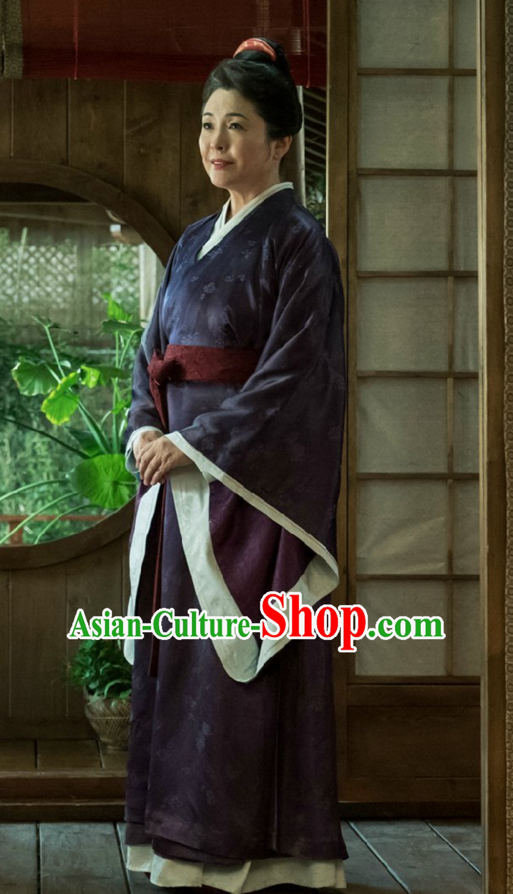 Ancient Chinese Tang Dynasty Housewife Clothing Complete Set for Women