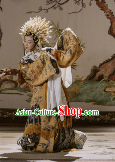 Story of Yanxi Palace Traditional Ancient Chinese Peking Opera Imperial Concubine Costume, Chinese Beijing Opera Diva Embroidered Clothing for Women