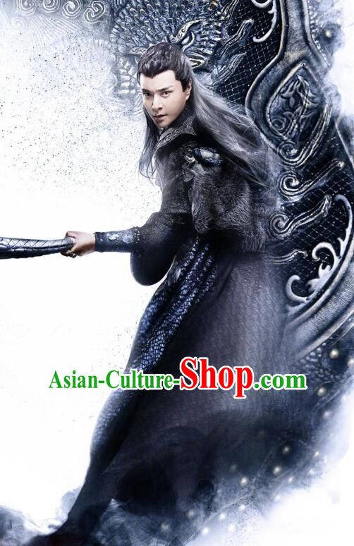 Traditional Chinese Southern and Northern Dynasties Swordsman Clothing, Asian China Ancient Knight Costume for Men