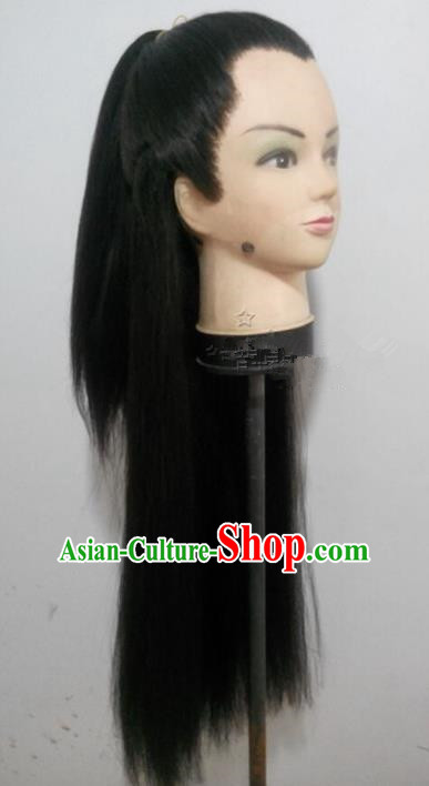 Chinese Ancient Swordsman Long Wig Set Beijing Opera False Beard Mustache