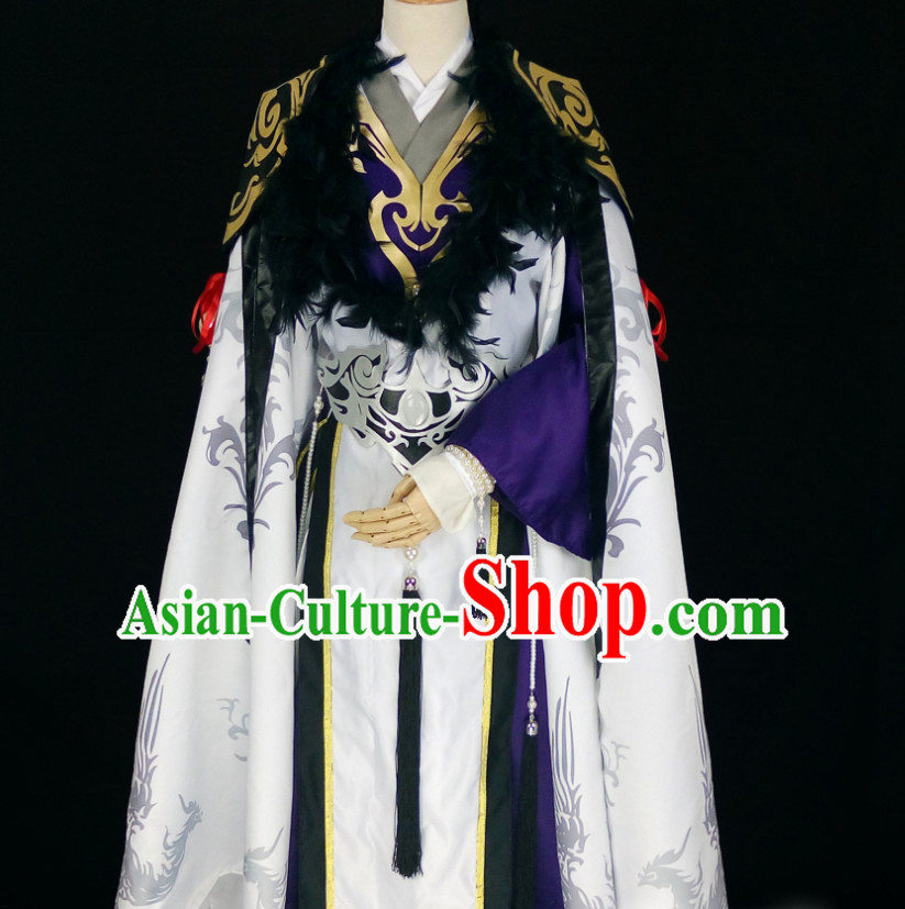 Fantasy Drama Prince Hanfu Costumes Complete Set for Men
