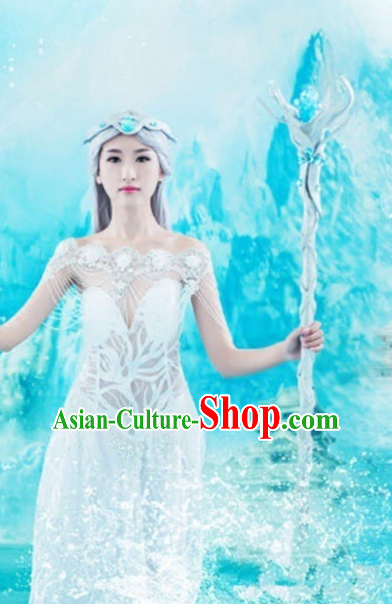 Ice Fantasy Drama Princess Hanfu Costumes Complete Set for Women