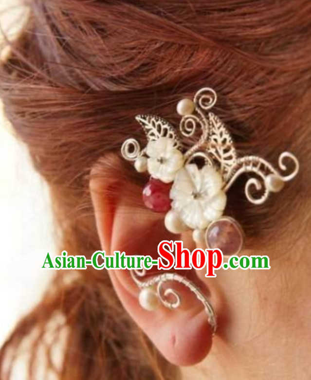 Handmade Ice Fantasy Drama Princess Ear Accessories Ear Jewelry