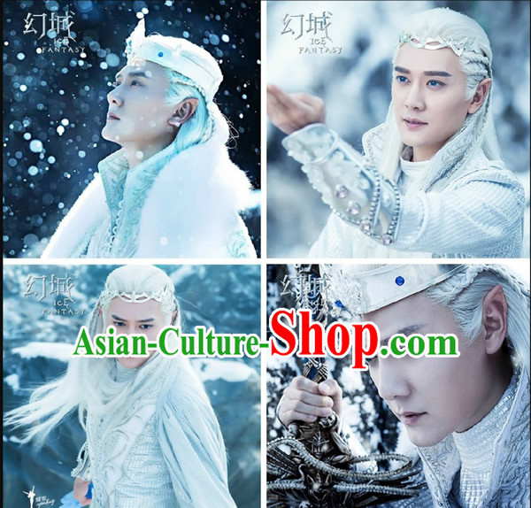 Chinese Halloween Costumes Fairytale Prince Cosplay and Headpieces Complete Set for Men