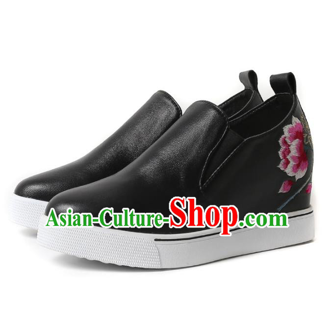 Asian Chinese Traditional Red Boots Ancient Emperor