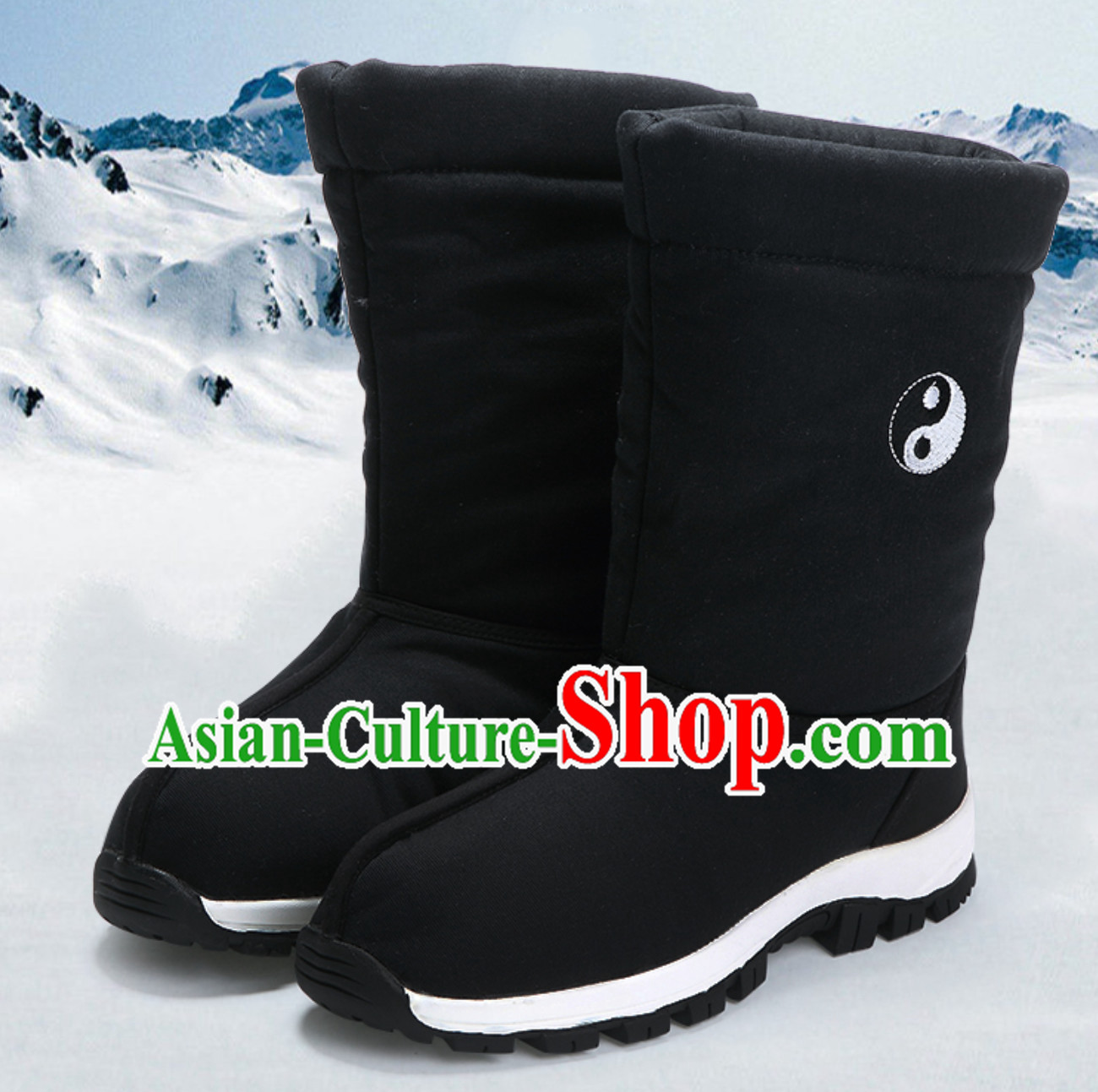 Chinese Classical Winter Wear Wudang Daoist Tai Chi High Boots