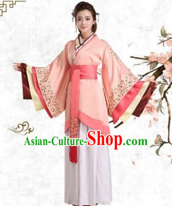Traditional Chinese Han Dynasty Princess Costume, China Ancient Palace Lady Hanfu Clothing for Women