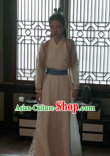 Traditional Ancient Chinese Tang Dynasty Nobility Lady Swordswoman Embroidered Costume for Women