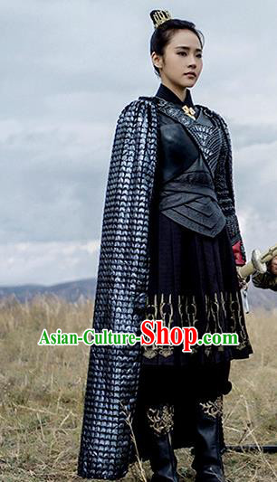 Traditional Ancient Chinese Tang Dynasty Female General Swordswoman Costume Complete Set for Women