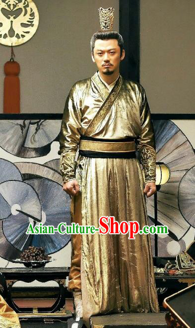 Traditional Ancient Chinese Tang Dynasty Imperial Emperor Embroidered Hanfu Costume for Men