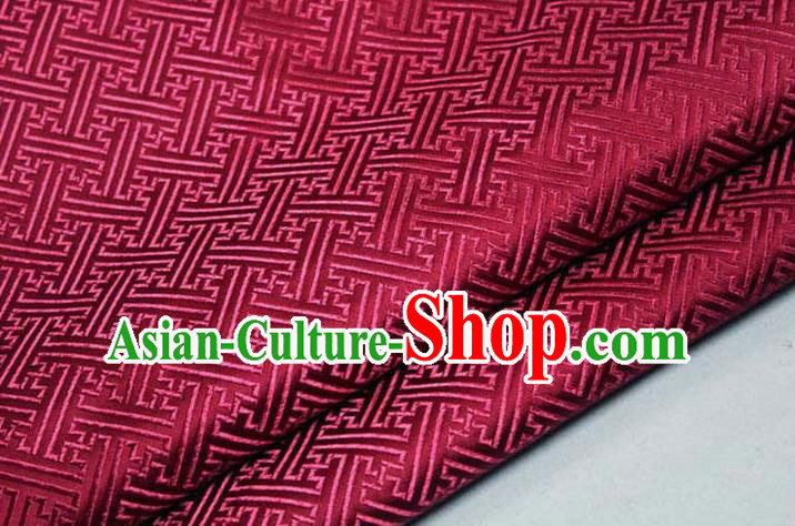 Chinese Traditional Costume Royal Palace Pattern Mongolian Robe Red Brocade Fabric, Chinese Ancient Clothing Drapery Hanfu Cheongsam Material