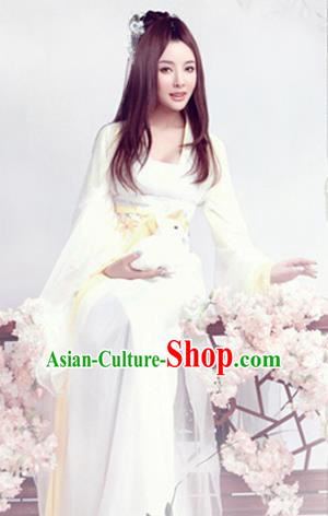 Traditional Ancient Chinese Swordsman Costumes Elegant Hanfu Clothing for Women