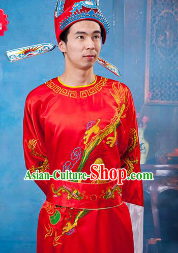 Traditional Ancient Chinese Costume, Chinese Kwame Brown Suit Bridegroom Wedding Clothing for Men