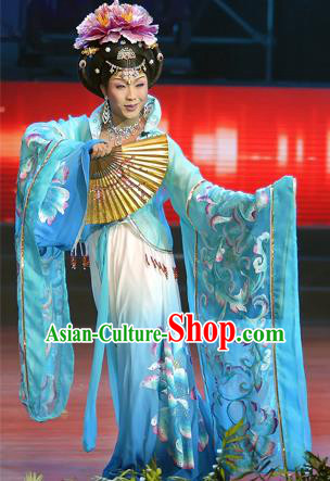 Traditional Ancient Chinese Imperial Consort Palace Lady Costume, Elegant Hanfu Clothing, Chinese Tang Dynasty Imperial Emperess Tailing Embroidered Clothing for Women