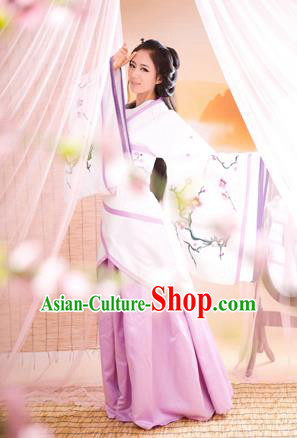 Traditional Ancient Chinese Imperial Princess Costume, Chinese Han Dynasty Plum Blossom Dress, Cosplay Chinese Imperial Embroidered Clothing for Women