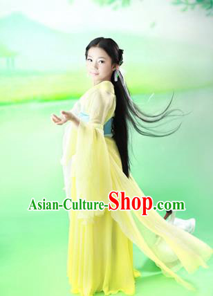 Traditional Ancient Chinese Imperial Princess Children Costume, Chinese Han Dynasty Little Fairy Elegant Dress, Cosplay Chinese Princess Hanfu Clothing for Kids