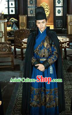 Traditional Ancient Chinese Ming Dynasty Imperial Bodyguard Costume, Imperial Guards Dress Hanfu Clothing for Men