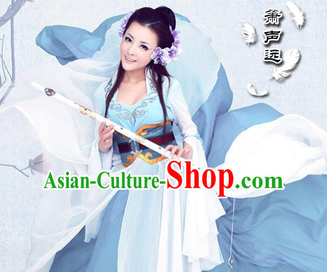 Traditional Ancient Chinese Sexy White Costume, Elegant Hanfu Clothing Chinese Tang Dynasty Imperial Emperess Embroidered Clothing for Women