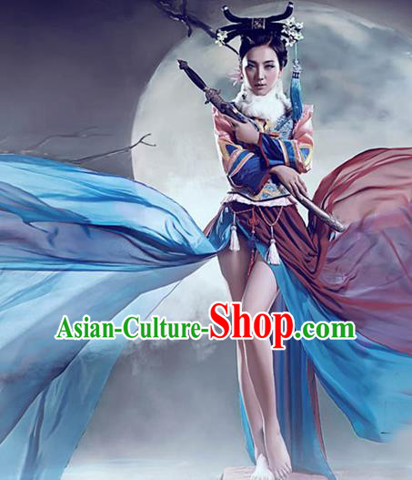 Traditional Ancient Chinese Imperial Consort Costume, Chinese Qing Dynasty Manchu Imperial Emperess Tailing Embroidered Elegant Hanfu Clothing for Women