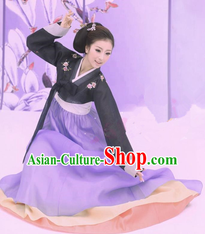 Traditional Ancient Chinese Koreans Costume, Elegant Clothing Chinese Koreans Embroidered Clothing for Women