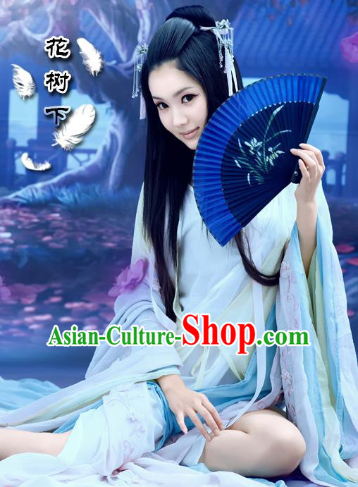 Traditional Ancient Chinese Imperial Consort Sexy Costume, Elegant Hanfu Clothing Chinese Tang Dynasty Imperial Empress Clothing for Women