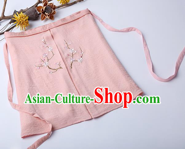 Traditional Ancient Chinese Costume Chest Wrap, Elegant Hanfu Boob Tube Top Clothing Chinese Song Dynasty Embroidery Plum Blossom Pink Condole Belt for Women