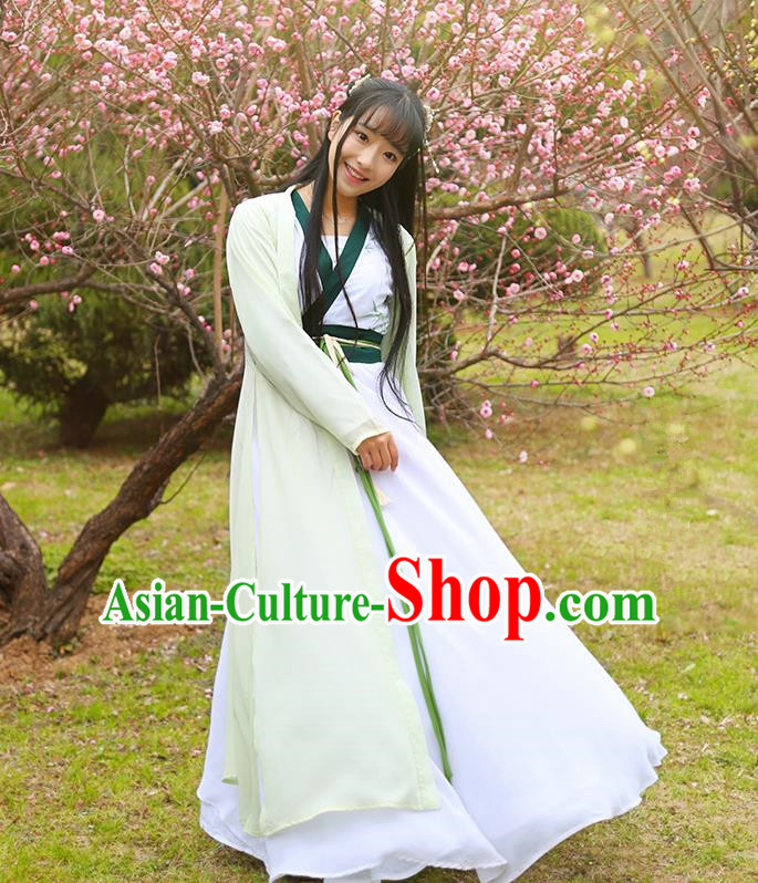 Traditional Ancient Chinese Female Costume Cardigan and Dress Complete Set, Elegant Hanfu Clothing Chinese Ming Dynasty Palace Lady Clothing for Women