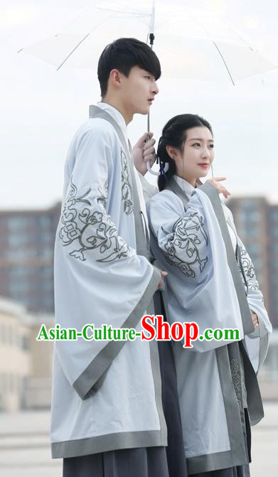 Traditional Ancient Chinese Lovers Costume, Elegant Hanfu Clothing Chinese Wei Dynasty Imperial Empress and Emperor Embroidered Clothing for Women for Women