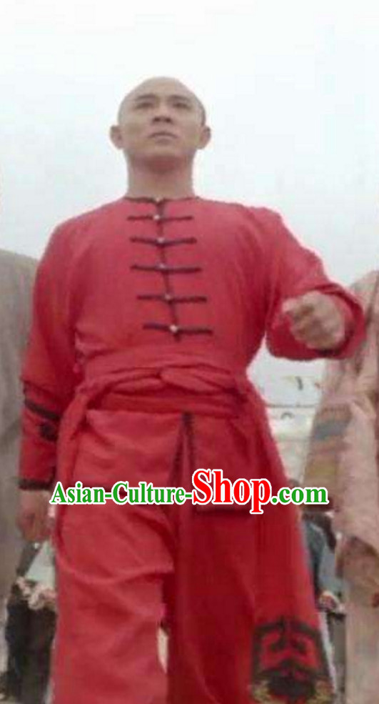 Traditional Chinese Lucky Red Kung Fu Uniform for Men