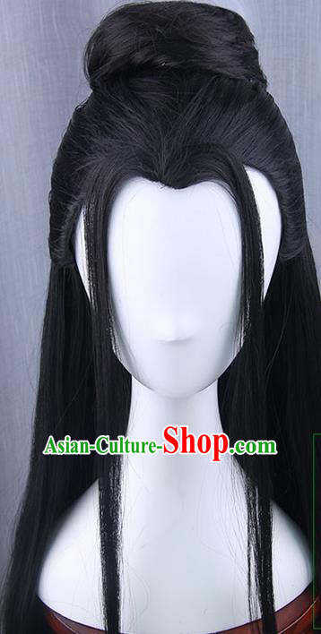 Traditional Handmade Ancient Chinese Tang Dynasty Imperial Princess Wig, Ancient Chinese Cosplay Fairy Palace Young Lady Wig for Women