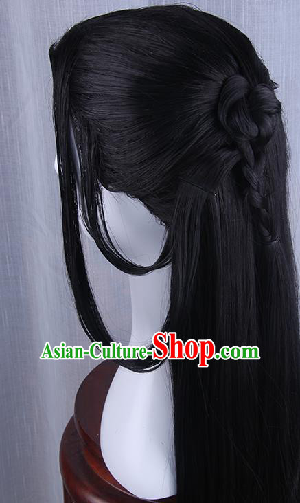 Traditional Handmade Ancient Chinese Han Dynasty Imperial Princess Wig, Ancient Chinese Hanfu Cosplay Fairy Swordsman Wig for Women
