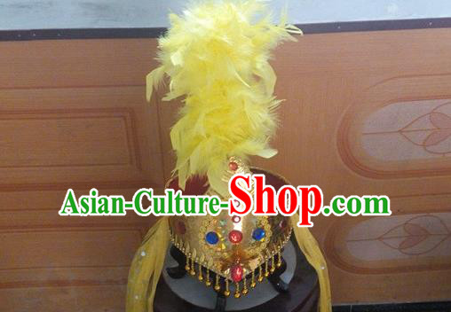 Traditional Chinese Nationality Dancing Costume Uyghur Princess Folk Dance Ethnic Headdress Hat Headband for Women