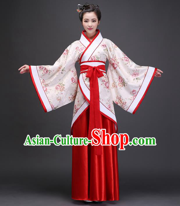 Traditional Ancient Chinese Imperial Emperess Costume, Chinese Han Dynasty Wedding Dress, Cosplay Chinese Peri Imperial Princess Dance Clothing Hanfu for Women