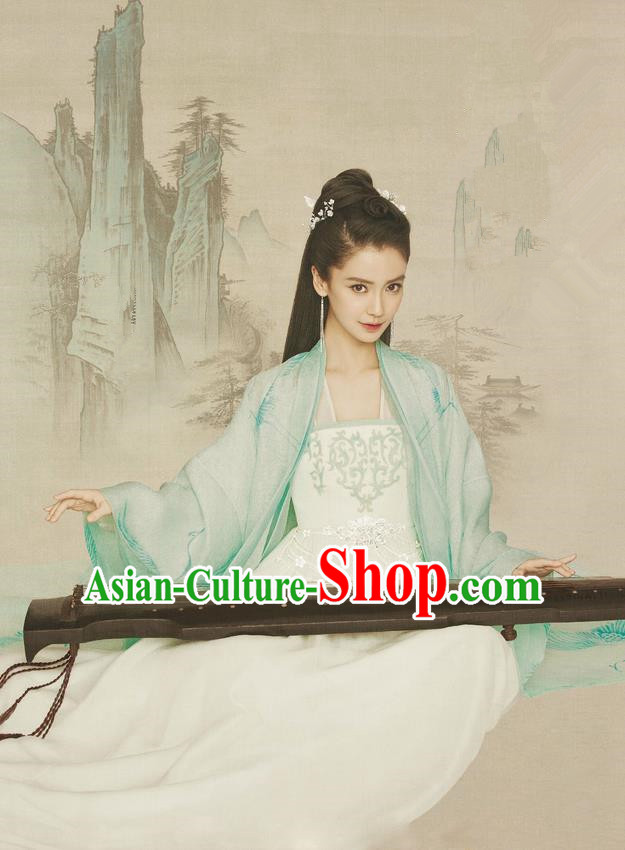 Traditional Ancient Chinese Imperial Princess Costume, Chinese Han Dynasty Princess Dress, Cosplay Chinese Peri Embroidered Hanfu Clothing for Women