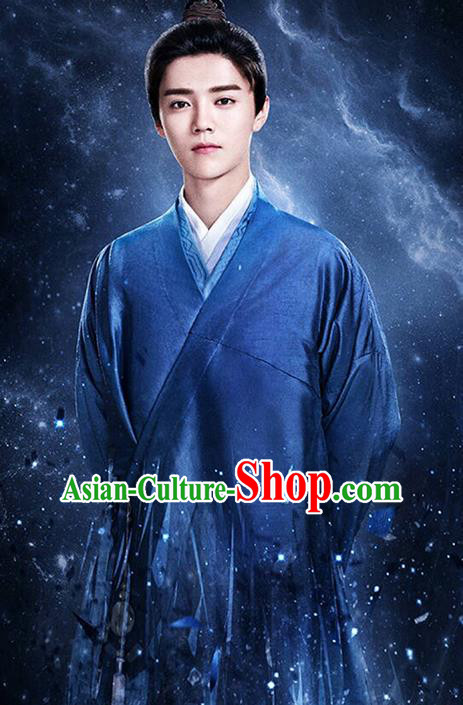 Traditional Ancient Chinese Male Costume, Chinese Han Dynasty Livehand Dress, Chinese Swordsman Clothing for Men