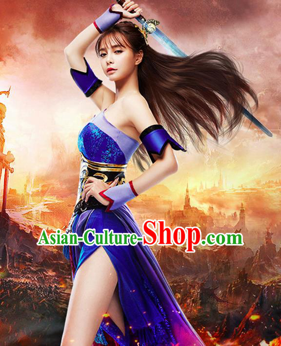 Traditional Ancient Chinese Imperial Emperess Costume, Chinese Tang Dynasty Wedding Dress, Cosplay Game Characters Swordsman Chinese Peri Imperial Princess Embroidered Clothing for Women