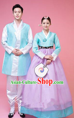 Traditional Ancient Korean Wedding Costumes Complete Set, Korean Palace Dance Dress for Women for Men