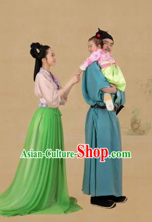 Traditional Ancient Chinese Family Costume Complete Set, Chinese Han Dynasty Parent-Child Dress, Cosplay Chinese Family Portrait Clothing Hanfu for Women for Men for Children