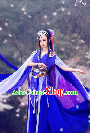 Traditional Ancient Chinese Imperial Consort Costume, Chinese Han Dynasty Dance Dress, Cosplay Chinese Peri Imperial Princess Hanfu Clothing for Women