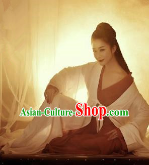 Traditional Ancient Chinese Imperial Emperess Costume, Chinese Han Dynasty Dress, Cosplay Fairy Tale Chinese Peri Imperial Princess Hanfu Clothing for Women
