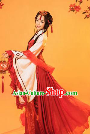Traditional Ancient Chinese Peking Opera Costume, Chinese Tang Dynasty Palace Consort Dress, Cosplay Chinese Imperial Consort Clothing for Women