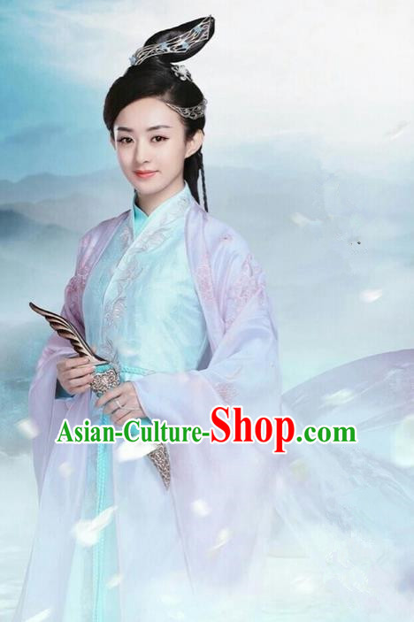 Traditional Ancient Chinese Swordswoman Costume, Chinese Han Dynasty Fairy Dress, Cosplay Game Character Chinese Peri Princess Pink Clothing for Women