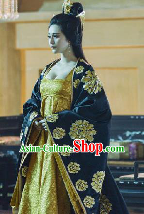 Traditional Ancient Chinese Imperial Consort Costume, Chinese Tang Dynasty Princess Dress, Cosplay Chinese Imperial Concubine Embroidered Trailing Clothing for Women