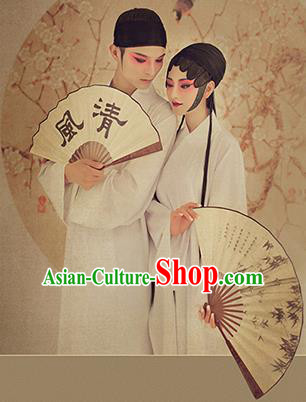 Traditional Ancient Chinese Lovers Costume, Chinese Han Dynasty Pajamas Dress, Cosplay Chinese Peri Concubine White Hanfu Clothing for Women for Men