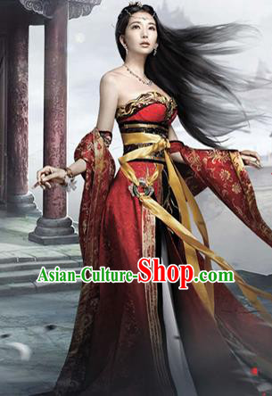 Traditional Ancient Chinese Imperial Emperess Costume, Chinese Tang Dynasty Emperess Wedding Dress, Chinese Emperess Embroidered Clothing for Women