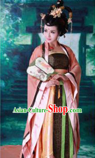Traditional Ancient Chinese Imperial Consort Costume, Chinese Han Dynasty Women Dress, Cosplay Chinese Concubine Clothing Hanfu for Women